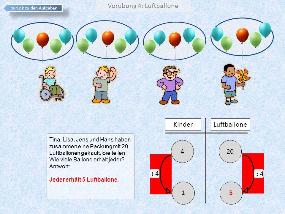 Vorübung 4: Luftballone
