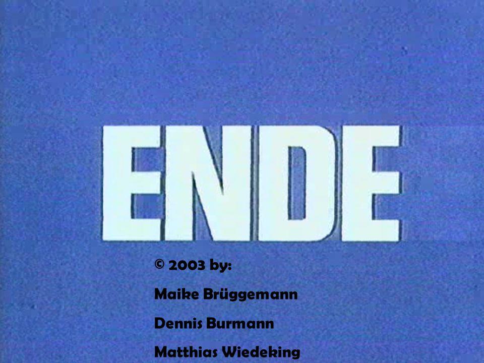 © 2003 by: Maike Brüggemann Dennis Burmann Matthias Wiedeking