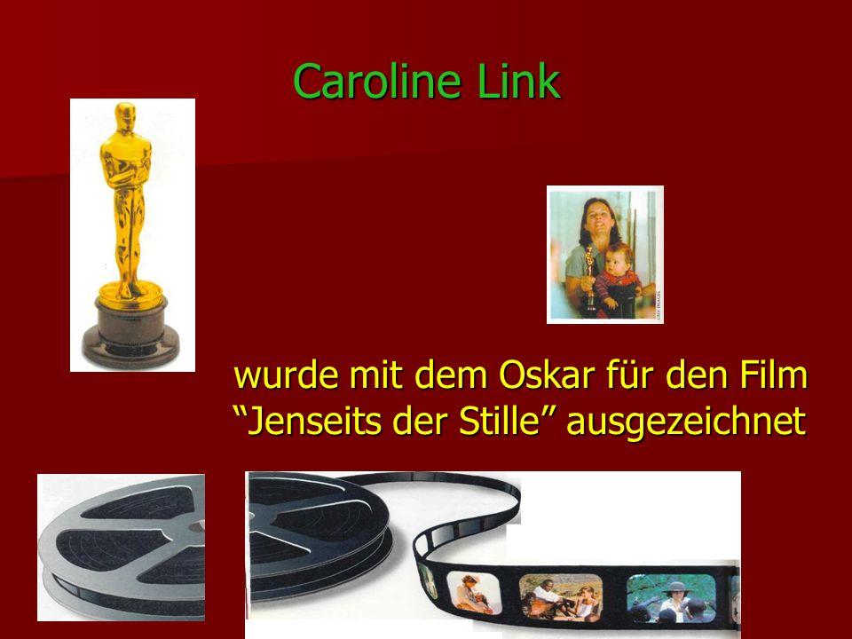 Caroline Link wurde mit dem Oskar für den Film Jenseits der Stille ausgezeichnet