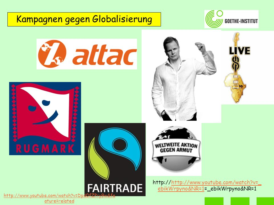 Kampagnen gegen Globalisierung