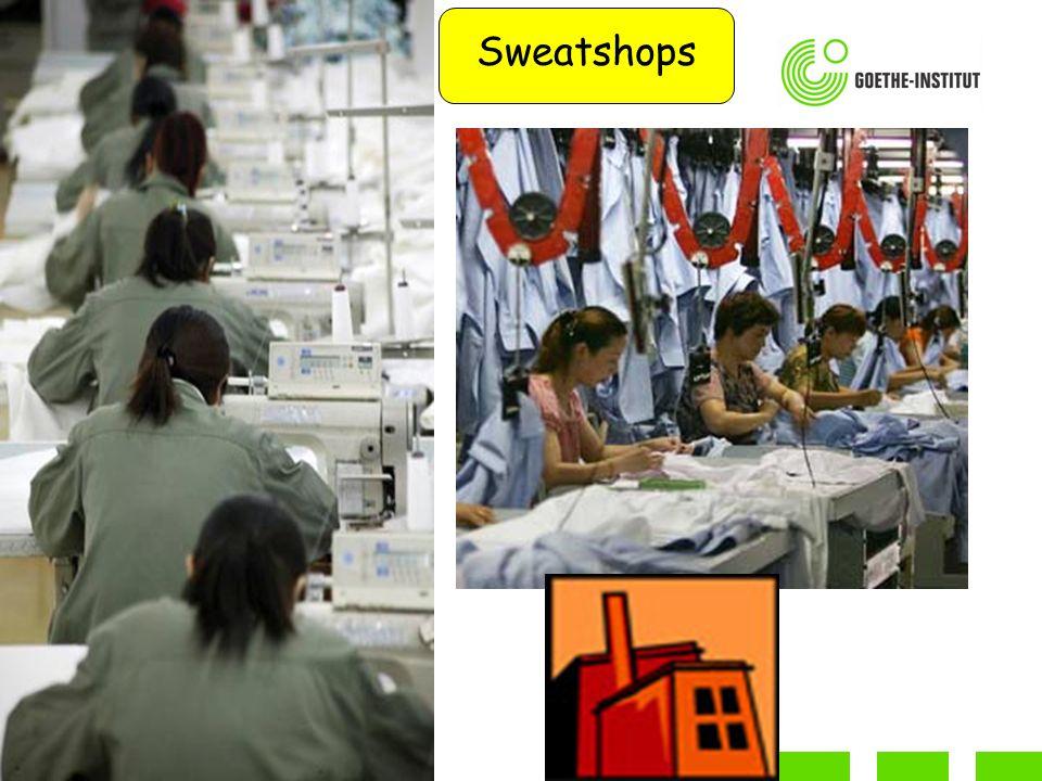 Sweatshops Am Anfang in dem Film seht Ihr eine Demonstration gegen Sweatshops. Damit wir alle bei Primark billig einkaufen können.