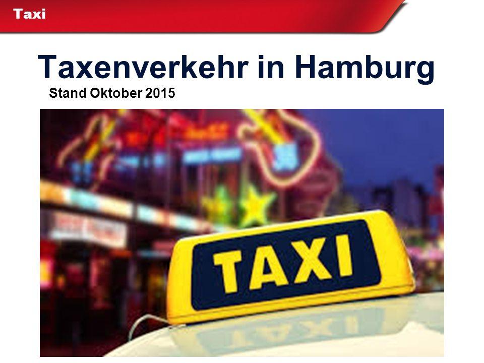 Taxenverkehr in Hamburg
