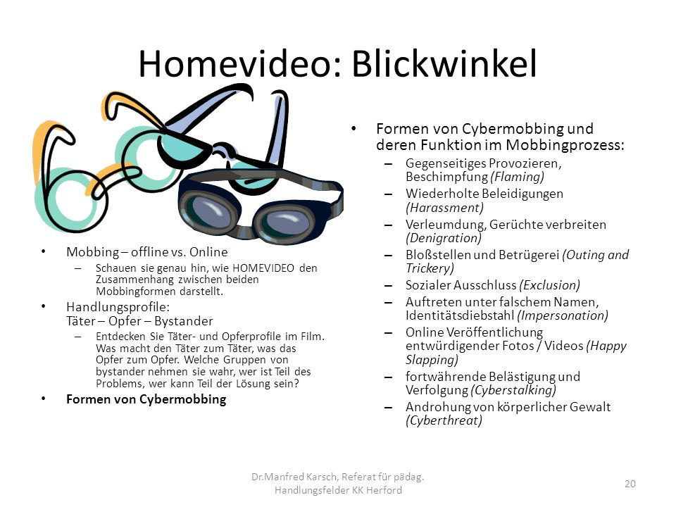 Homevideo: Blickwinkel
