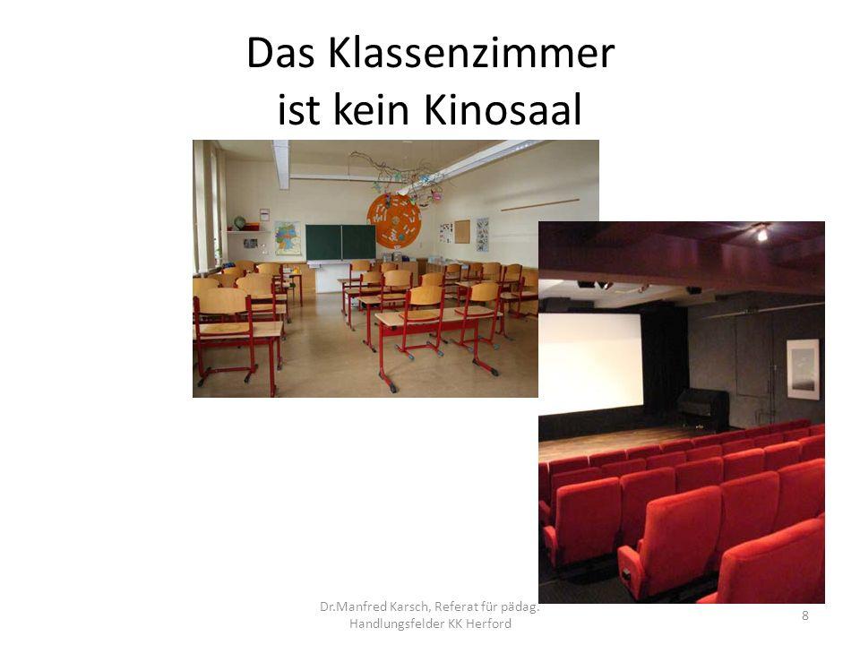 Das Klassenzimmer ist kein Kinosaal