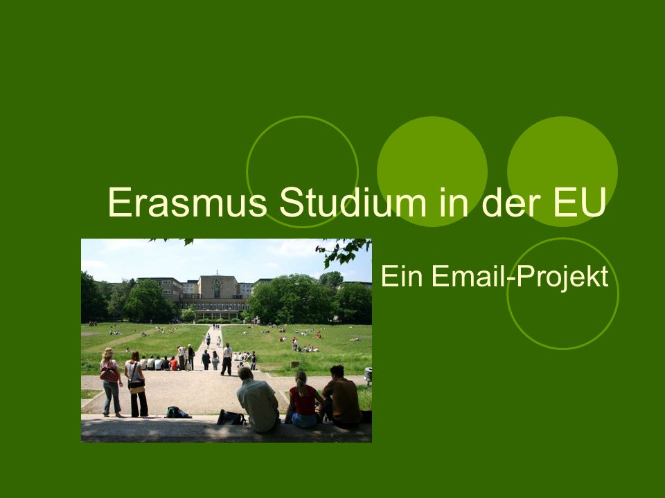Erasmus Studium in der EU