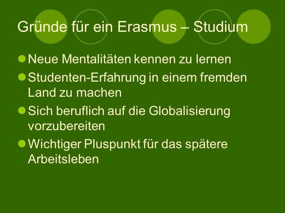 Gründe für ein Erasmus – Studium