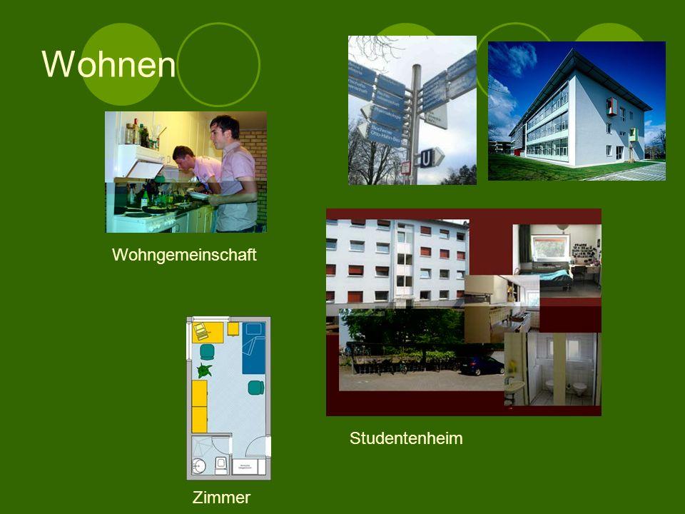 Wohnen Wohngemeinschaft Studentenheim Zimmer