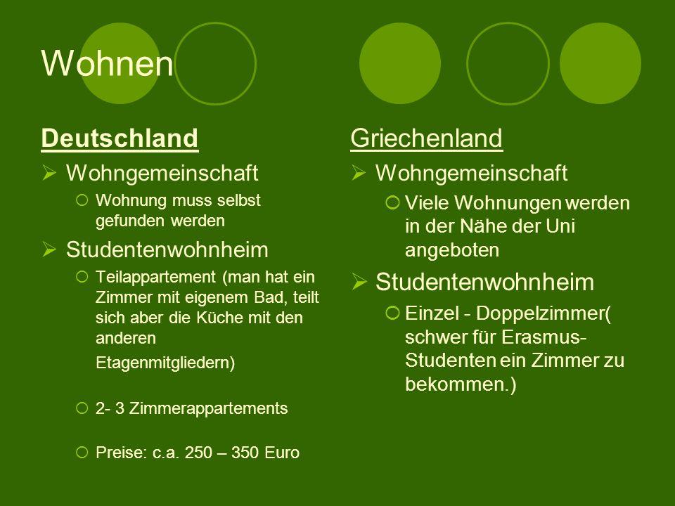 Wohnen Deutschland Griechenland Studentenwohnheim Wohngemeinschaft