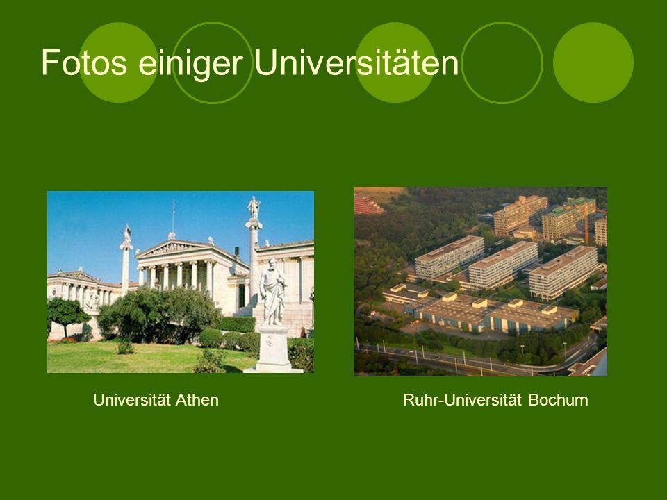 Fotos einiger Universitäten