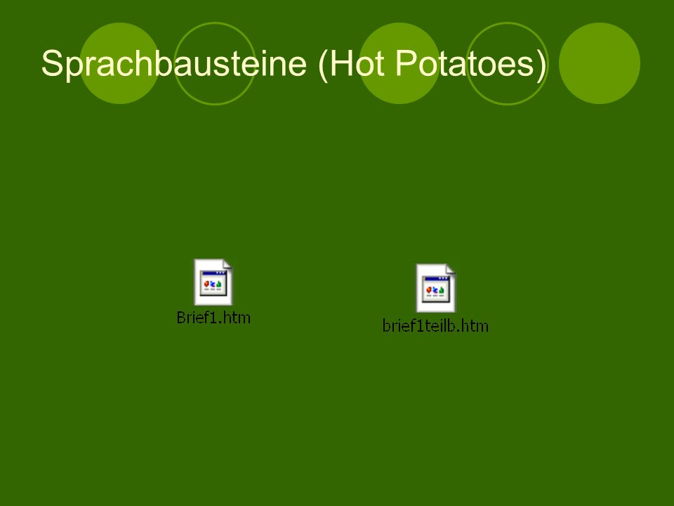 Sprachbausteine (Hot Potatoes)