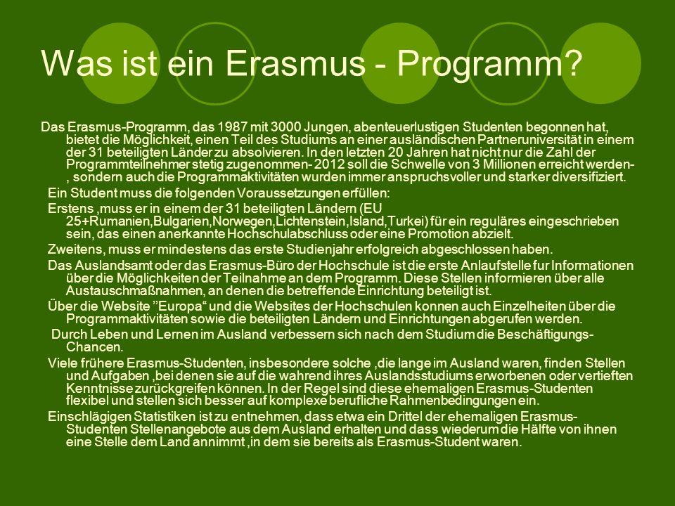 Was ist ein Erasmus - Programm