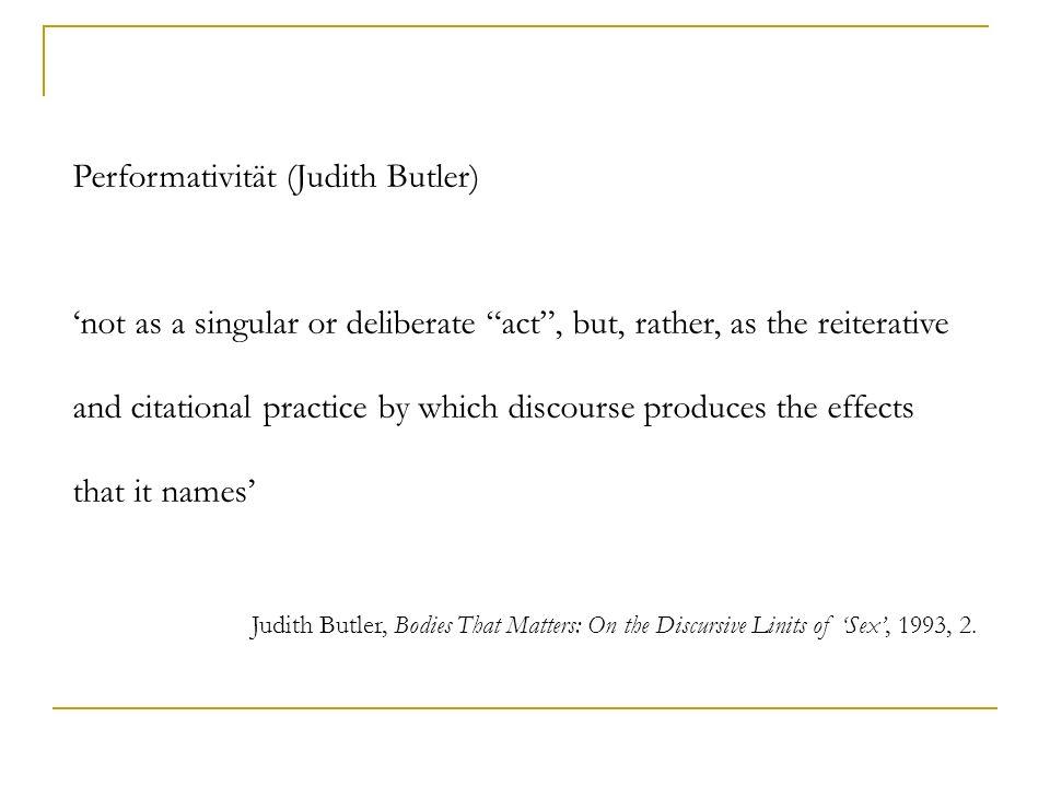 Performativität (Judith Butler)