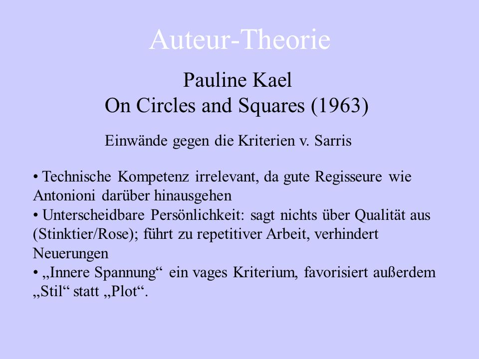 On Circles and Squares (1963)