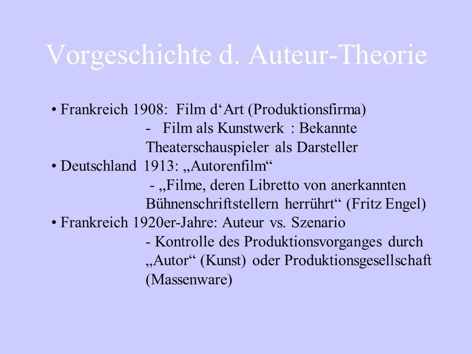 Vorgeschichte d. Auteur-Theorie