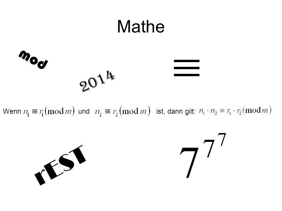 Mathe mod. 2014. Wenn und ist, dann gilt: