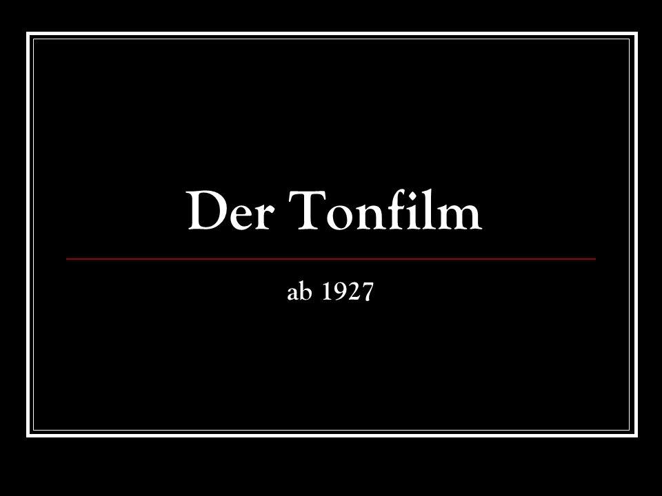 Der Tonfilm ab 1927