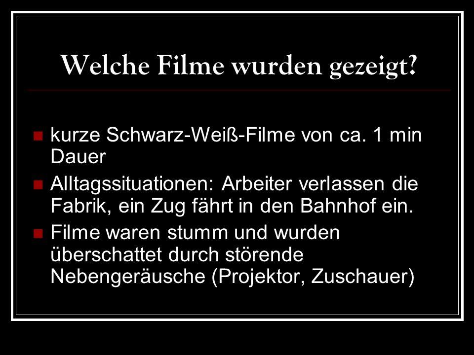 Welche Filme wurden gezeigt