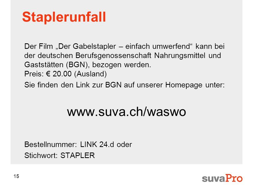 Staplerunfall www.suva.ch/waswo