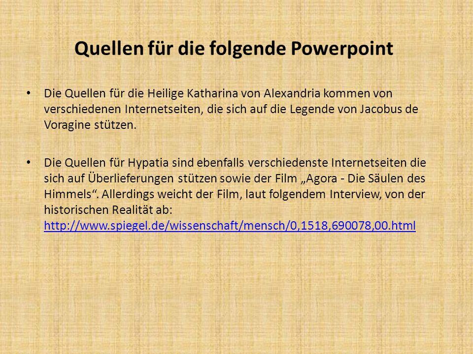 Quellen für die folgende Powerpoint