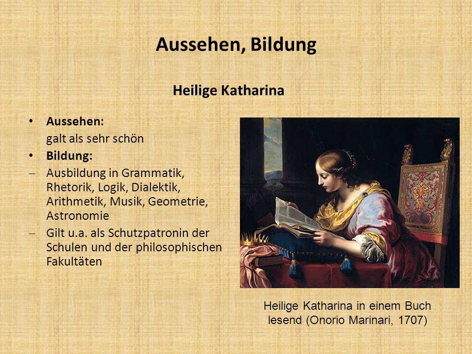 Heilige Katharina in einem Buch lesend (Onorio Marinari, 1707)