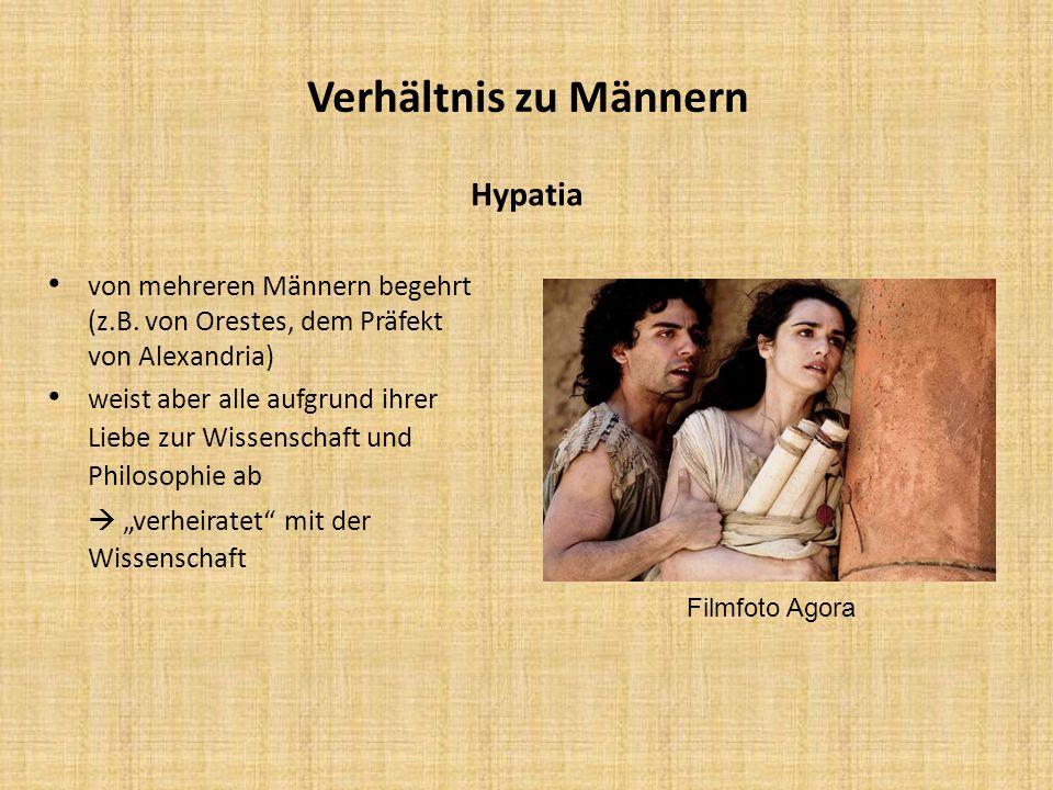 Verhältnis zu Männern Hypatia