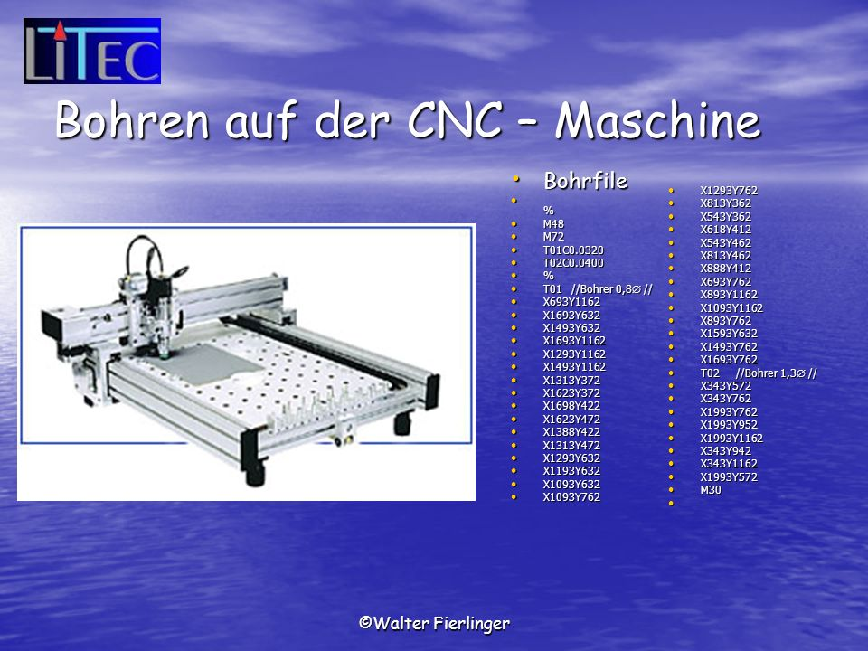 Bohren auf der CNC – Maschine