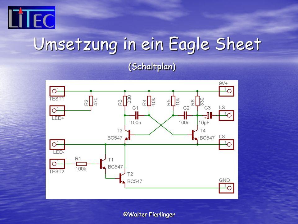 Umsetzung in ein Eagle Sheet (Schaltplan)