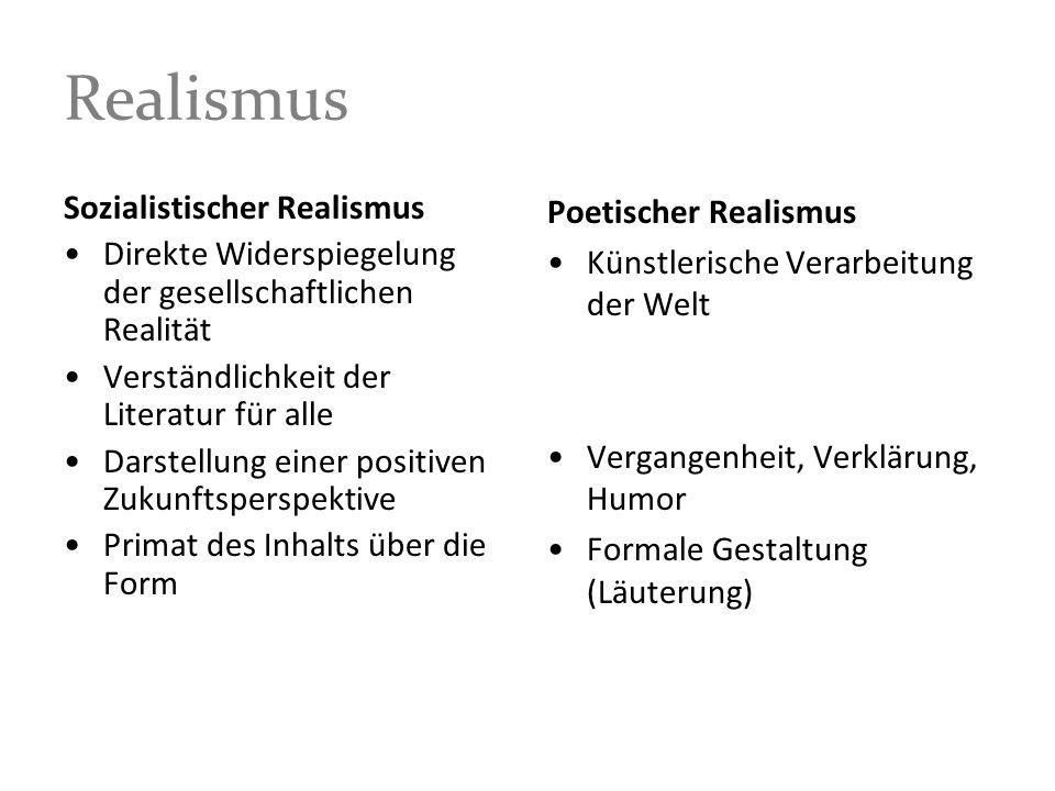 Realismus Sozialistischer Realismus