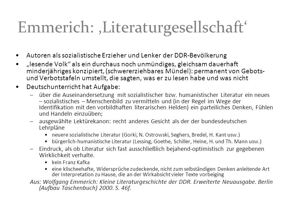 Emmerich: 'Literaturgesellschaft'