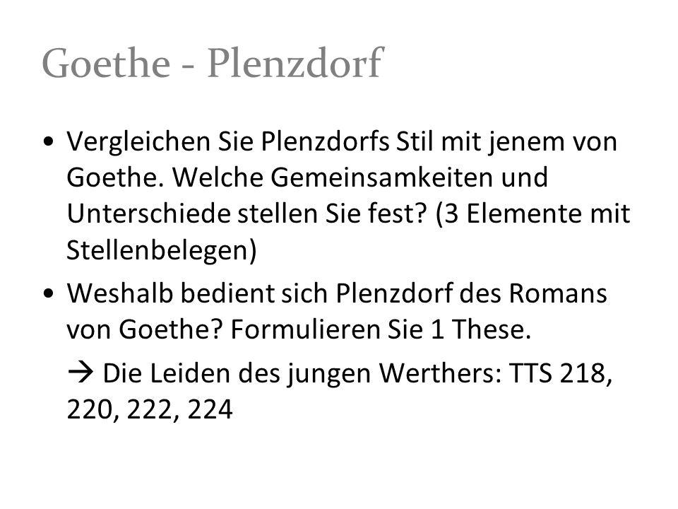 Goethe - Plenzdorf