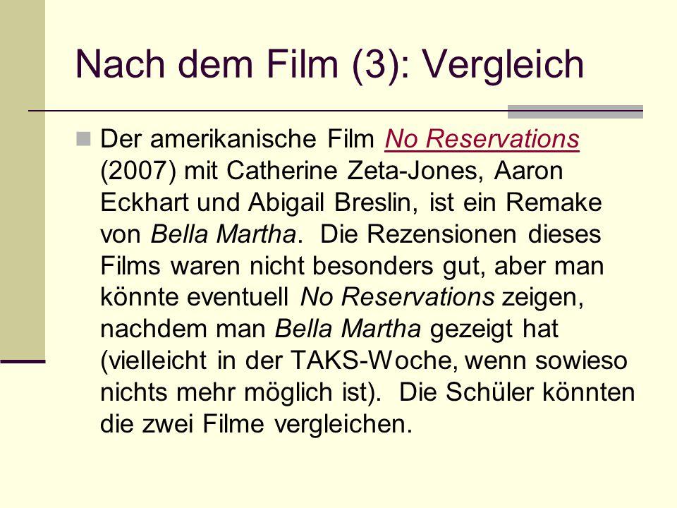 Nach dem Film (3): Vergleich