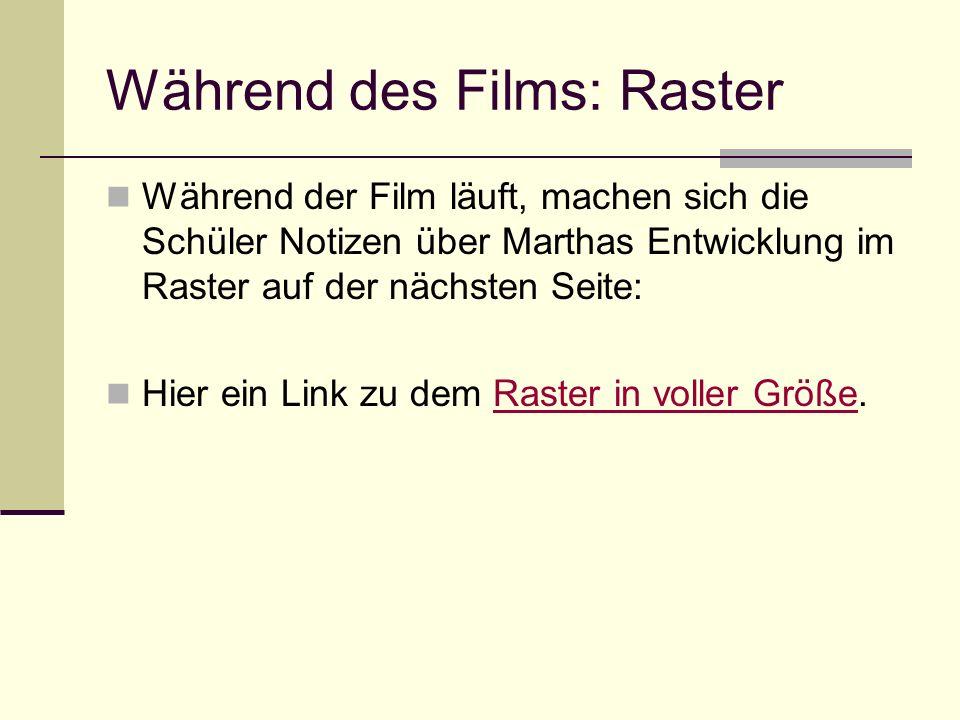 Während des Films: Raster