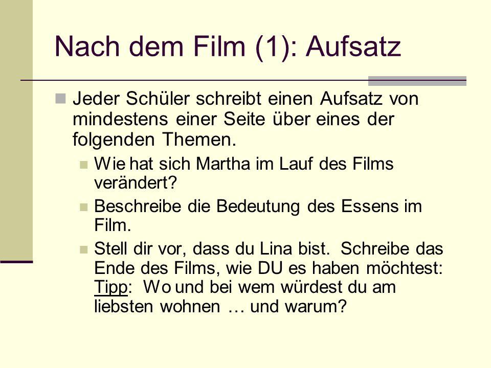 Nach dem Film (1): Aufsatz