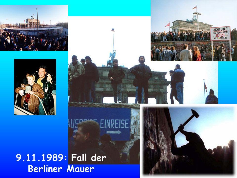 9.11.1989: Fall der Berliner Mauer