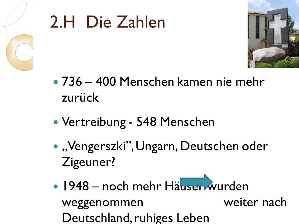 2.H Die Zahlen 736 – 400 Menschen kamen nie mehr zurück