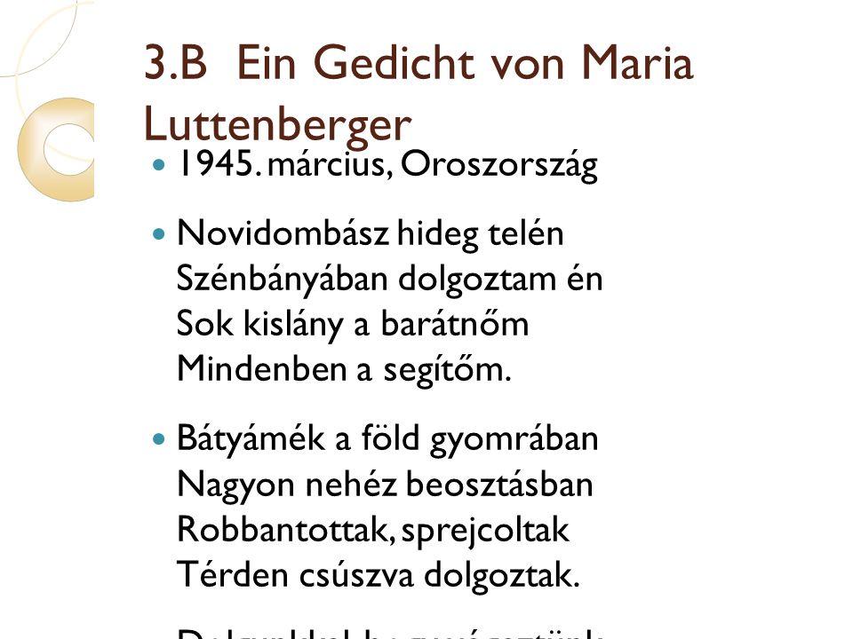 3.B Ein Gedicht von Maria Luttenberger