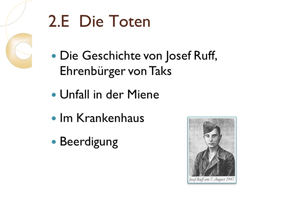 2.E Die Toten Die Geschichte von Josef Ruff, Ehrenbürger von Taks