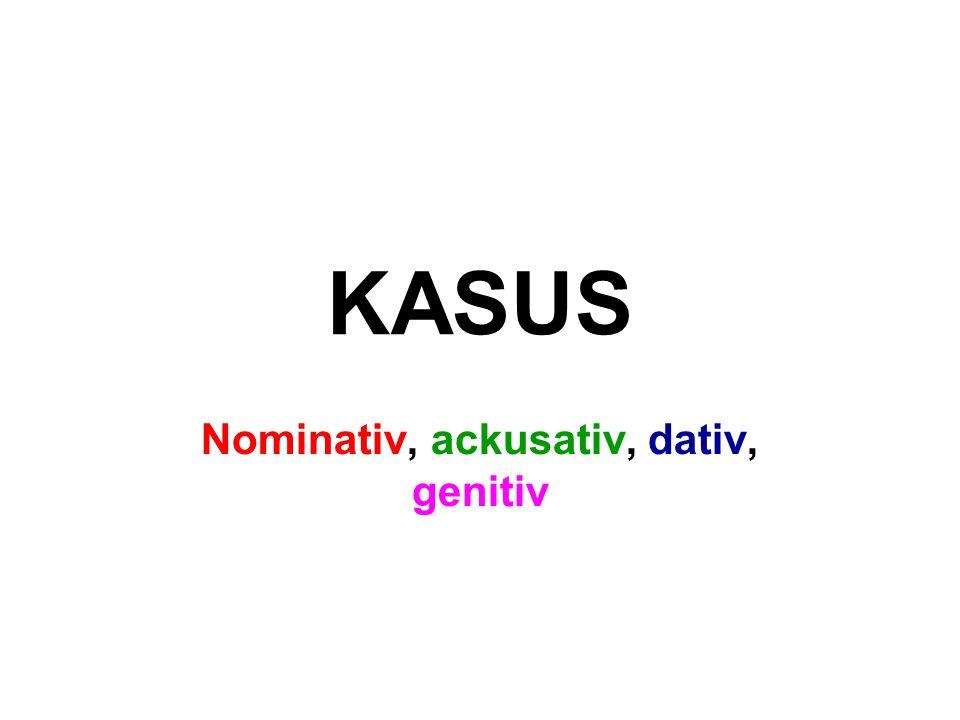 Nominativ, ackusativ, dativ, genitiv
