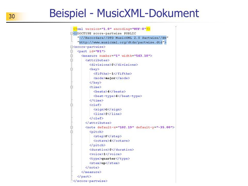 Beispiel - MusicXML-Dokument