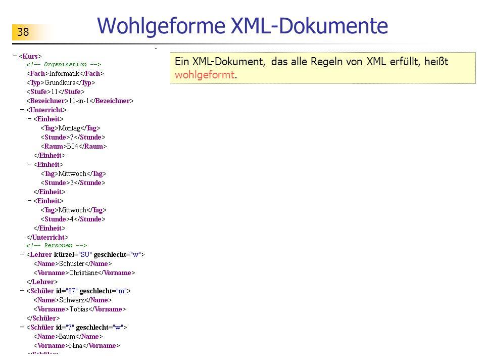 Wohlgeforme XML-Dokumente
