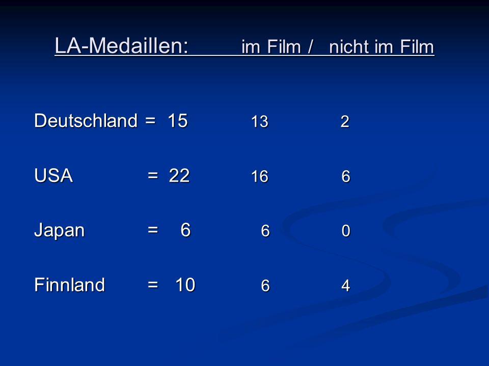 LA-Medaillen: im Film / nicht im Film
