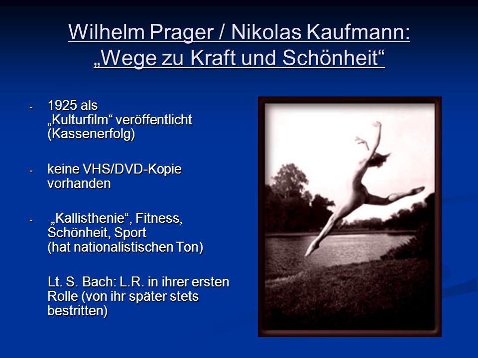 """Wilhelm Prager / Nikolas Kaufmann: """"Wege zu Kraft und Schönheit"""