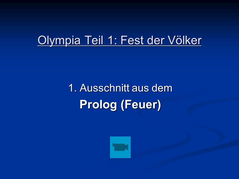 Olympia Teil 1: Fest der Völker
