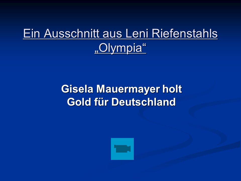 """Ein Ausschnitt aus Leni Riefenstahls """"Olympia"""