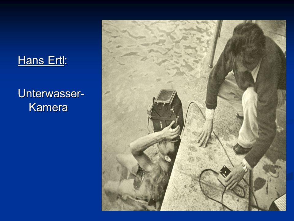 Hans Ertl: Unterwasser- Kamera