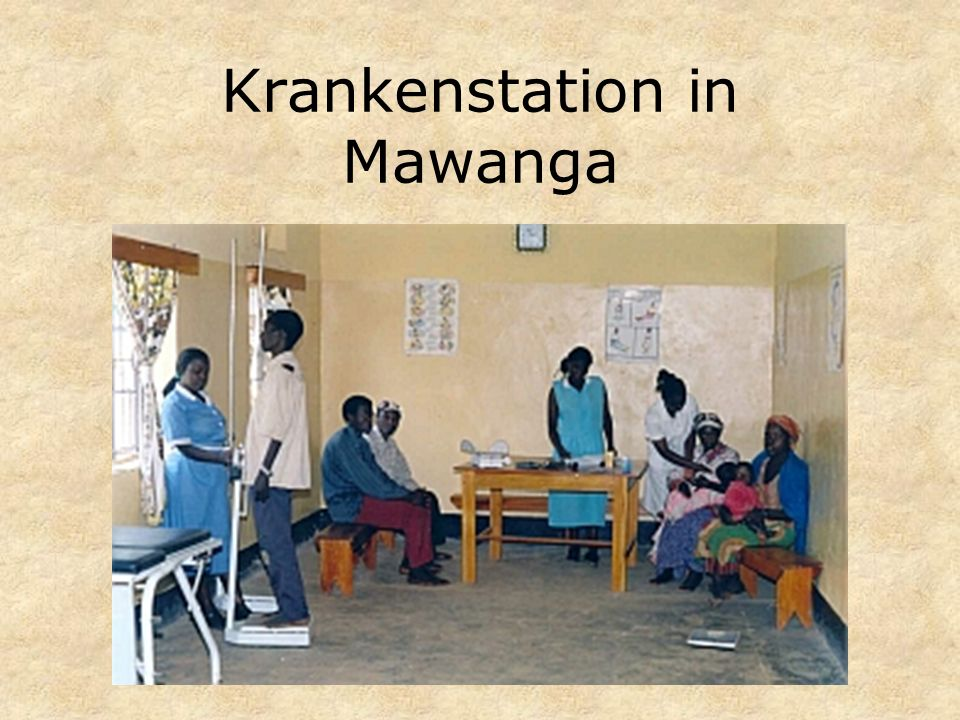 Krankenstation in Mawanga