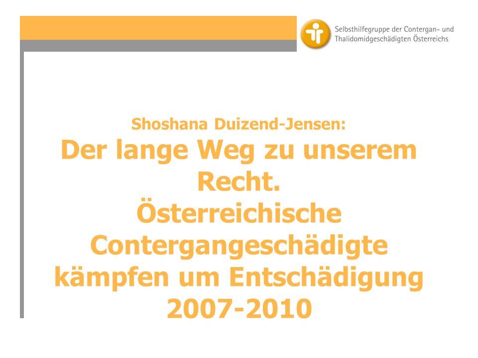 Shoshana Duizend-Jensen: Der lange Weg zu unserem Recht