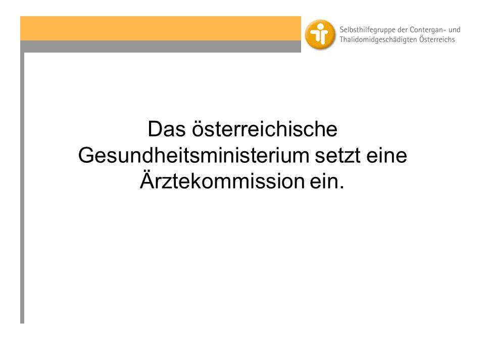 Das österreichische Gesundheitsministerium setzt eine Ärztekommission ein.
