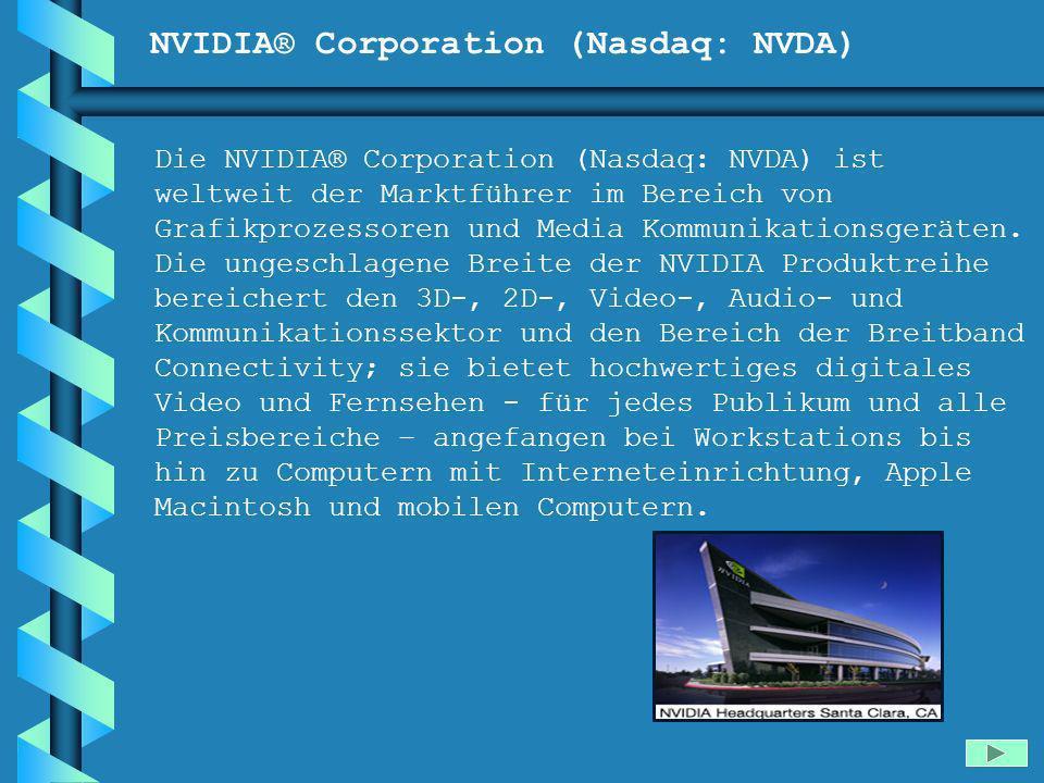 NVIDIA® Corporation (Nasdaq: NVDA)
