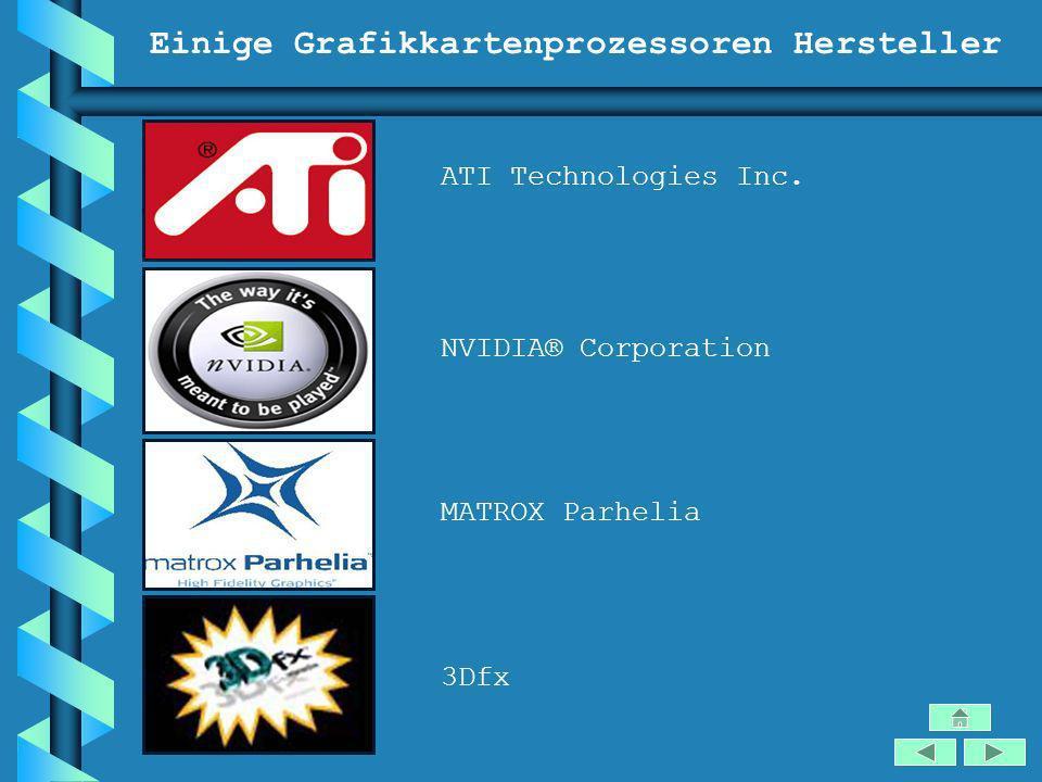 Einige Grafikkartenprozessoren Hersteller